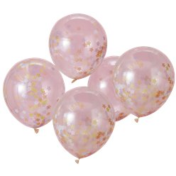 Unicorn Wishes Star Confetti Balloons - 12