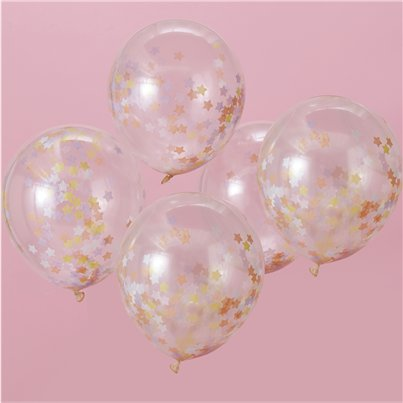"Unicorn Wishes Star Confetti Balloons - 12"" Latex"