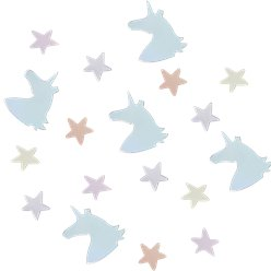 Unicorn Wishes Iridescent Unicorn & Stars Confetti - 14g Bag