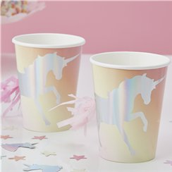 Unicorn Wishes Iridescent Unicorn Tassel Cups - 255ml