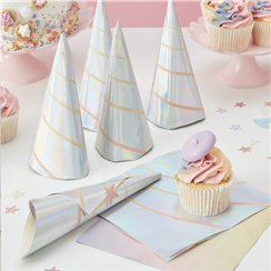 Unicorn Wishes Iridescent Unicorn Horn Napkins - 33cm