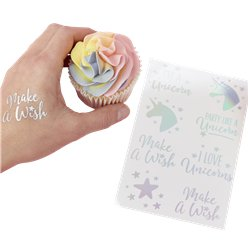 Unicorn Wishes Iridescent Foiled Unicorn Tattoos