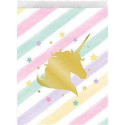 Unicorn Sparkle Paper Treat Bags - 22cm