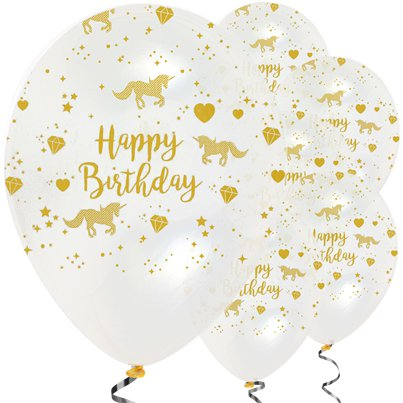 "Unicorn Sparkle Balloons - 12"" Latex"