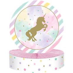 Unicorn Sparkle Honeycomb Centerpiece - 30cm