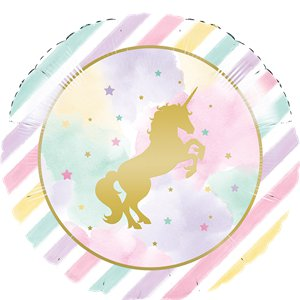 Unicorn Sparkle Foil Metallic Balloon - 18