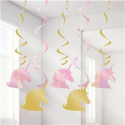 Unicorn Sparkle Hanging Swirls - 39""