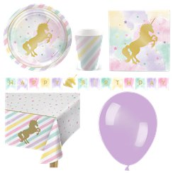 Unicorn Sparkle Party Pack - Deluxe Pack for 8