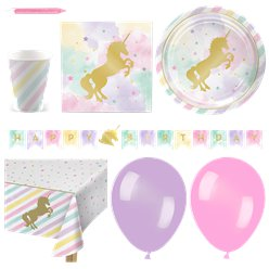 Unicorn Sparkle Party Pack - Deluxe Pack for 16