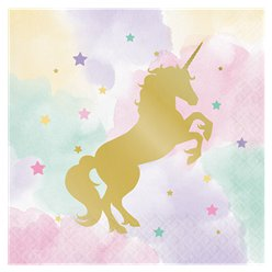Unicorn Sparkle Luncheon Paper Napkins - 33cm