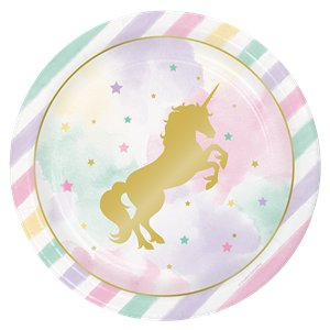 Unicorn Sparkle Plates - 23cm Party Plates