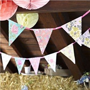 Vintage Tea Party Paper Bunting - 4m