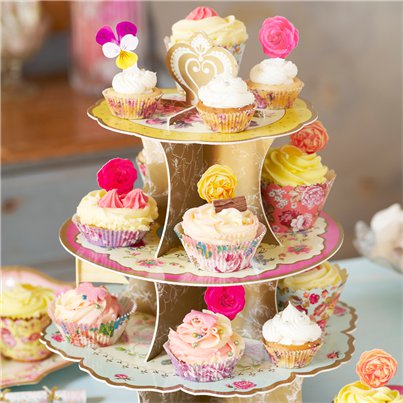 Vintage Tea Party Cup Cake Stand