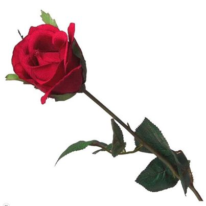 Luxury Long Stem Silk Red Rose - 59cm