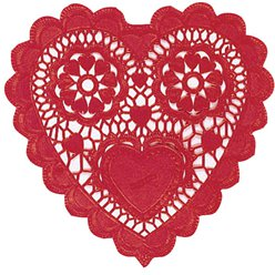 Heart Shaped Doilies - 25cm