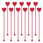 Heart Plastic Drink Stirrers