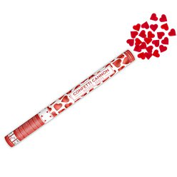Confetti Cannon Metallic Heart - Red