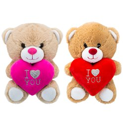 Love Heart Plush Bear - 6""