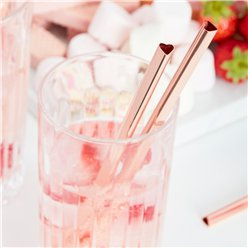 Metal Heart Straws