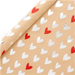 Heart Print Wrapping Paper - 1.5M