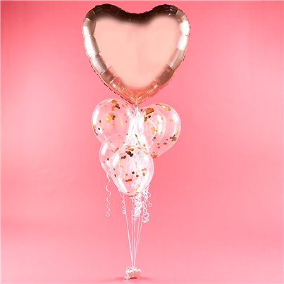 Valentine's Rose Gold Heart Balloon Kit