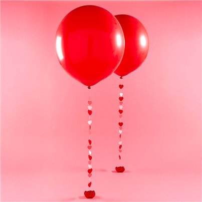 Valentine's Red Giant Latex Balloon Kit - 36""