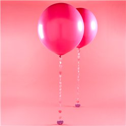 Valentine's Pink Giant Latex Balloon Kit - 36""