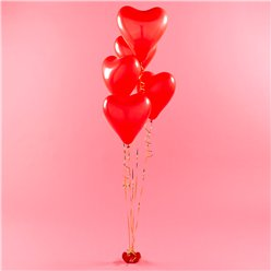 "Red Heart Balloons Kit - 11"" Latex"