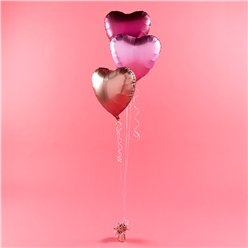 Metallic Satin Heart Foil Balloon Kit - 18""