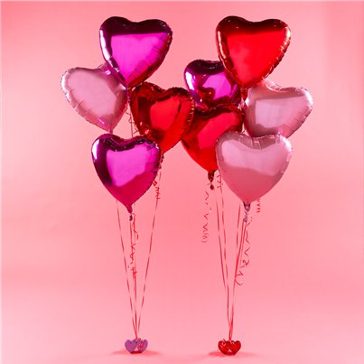 Valentine's Red Foil Heart Balloon Kit - 36""