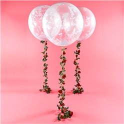 White Confetti Orb Balloon Kit - 36""