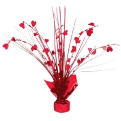 Valentines Heart Spray Centrepiece Decoration - 30cm