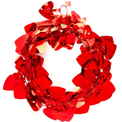 Lazer Red Heart Shaped Garland
