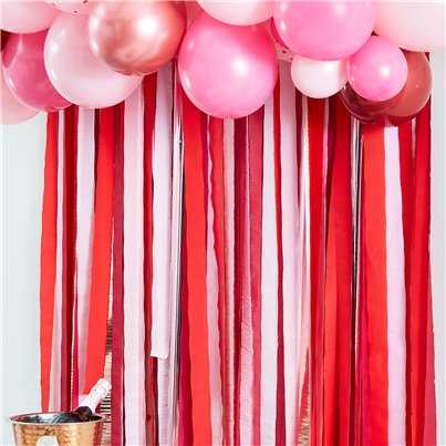 Red & Pink Backdrop Streamers