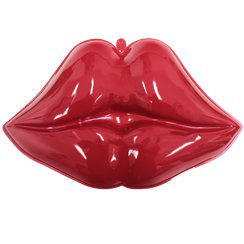 Valentines Decoration Plastic Hot Lips - 40cm
