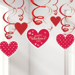 Valentines Day Hanging Swirls - 60cm