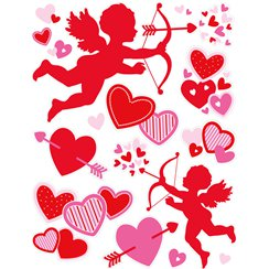 Cupids Hearts and Arrows Window Decoration