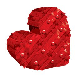 Mini Heart Pinata Decoration