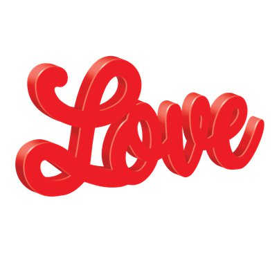 Love Script MDF Sign