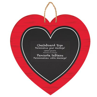 Chalkboard Heart Hanging MDF Sign