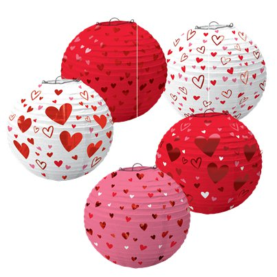 Valentine's Day Mini Hot-Stamped Lanterns