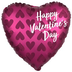 "Happy Valentine's Day Satin Balloon - 18"" Foil"