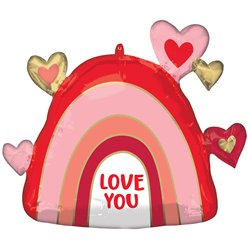 "Rainbow Love You Supershape Balloon - 26"" Foil"