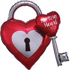 Key To My Heart Multi Balloon - 32""