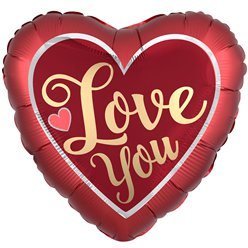 "Love You Satin Balloon - 28"" Foil"