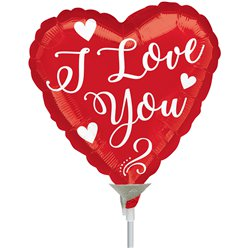I Love You Script Mini Air Fill Balloon