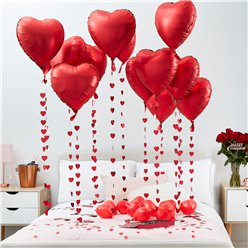 Heart Ballons and Petal Decoration Kit