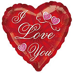 "Valentines Radiating Love You Balloon - 18"" Foil"
