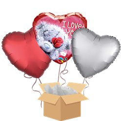 "Me to You Tatty Teddy ""I Love You"" Balloon Bouquet - Delivered Inflated"