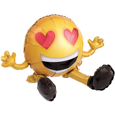 "Sitting Emoticon Multi Balloon - 19"" Foil"